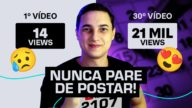 manter consistencia no youtube